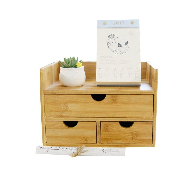 Boîte de rangement de décor domestique tiroir bois organisateur cosmétique tiroirs de maquillage bijoux papeterie boîtes de rangement d'admission