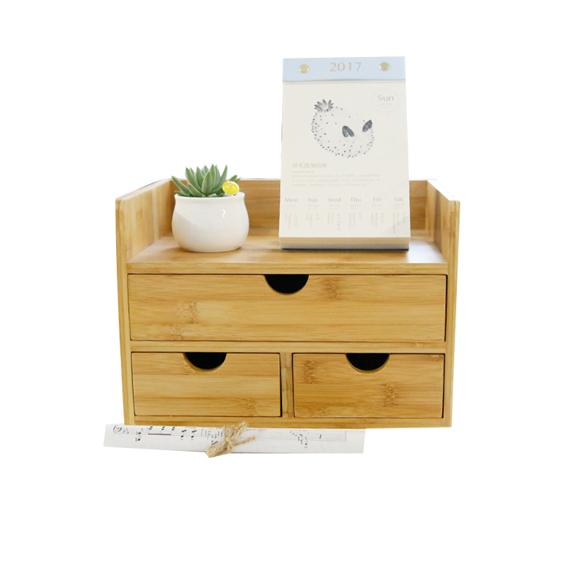 Household Decor Storage Box Drawer Wood Cosmetic Organizer ...