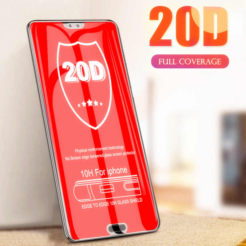 20D Protective Glass On The For Huawei P20 Lite P30 Pro Mate 10 20 P Smart 2019 Tempered Film For Honor 10 Lite Screen Protector