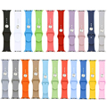 38/42mm Candy Silicon Rubber Original Integrated Connector Casual Sports Iwatch Band Strap Watch Bracelet for Apple Watch I62.