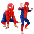 2017 Niños de la Historieta Del Hombre Araña Traje de Los Muchachos Niños Superhéroe Capas Anime Cosplay Carnaval Cosplay del Traje de Los Niños Conjunto