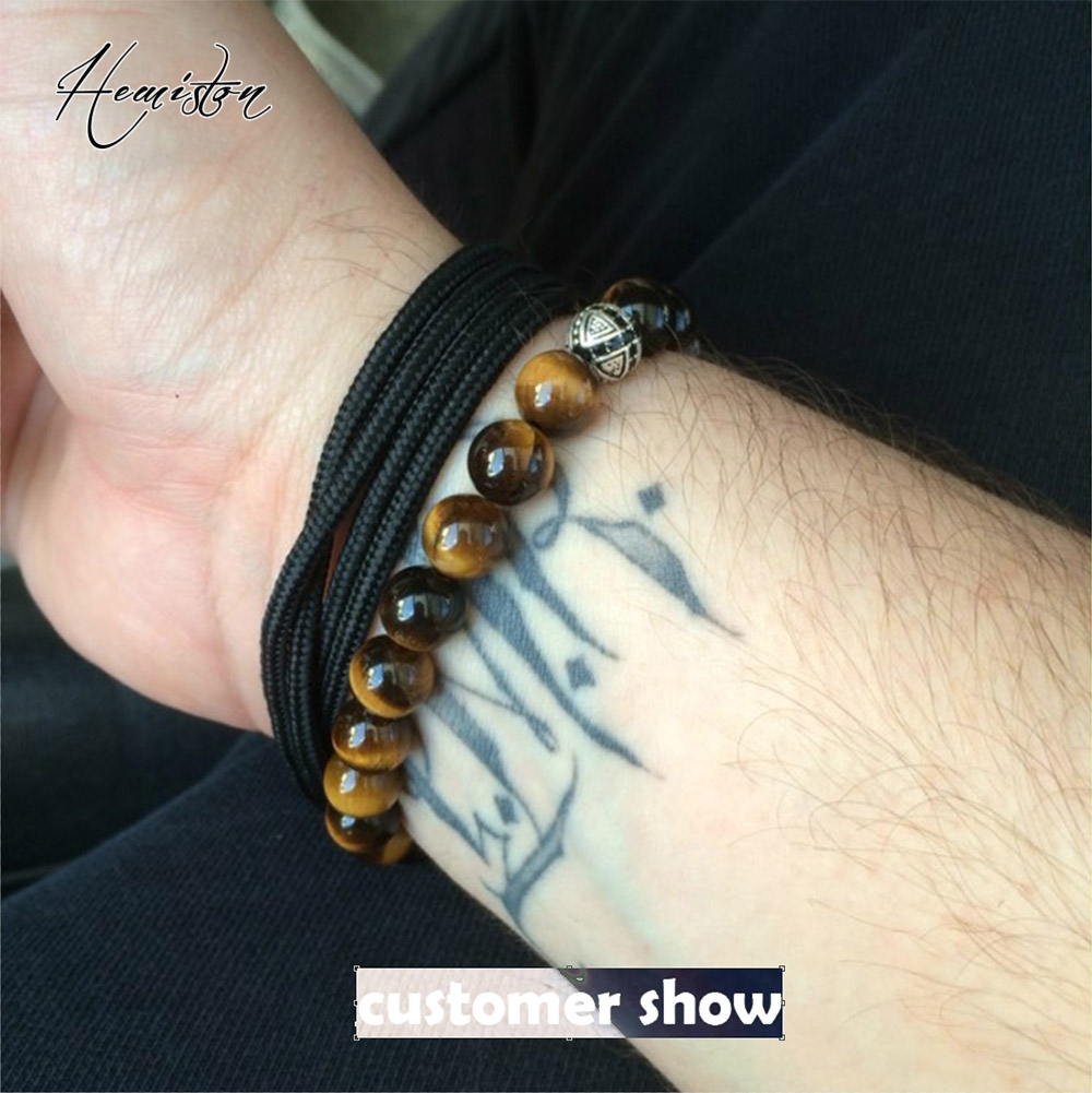 Hot Thomas AAA Tiger's Eye Beads Elastic Bracelet with Cross Hero - Fashion Jewelry - Photo 5