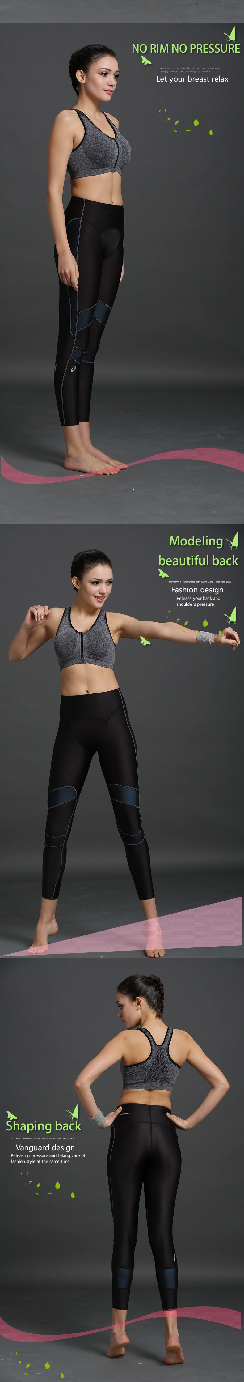 B.BANG 17 New Women Zipper Bra Push Up Crop Top Seamless Sexy Shakeproof Underwear M-XXXL Big Size Wholesale Brassiere 3