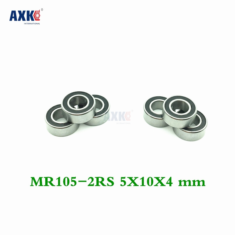 Axk Free Shipping High Quality 10pcs Mr105-2rs Abec-5 <font><b>5*10*4</b></font> Mm Miniature Ball Bearings Mr105rs L1050 image
