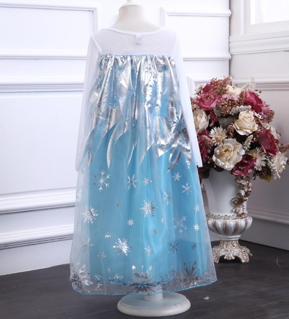 HTB1.jIVbfvsK1RjSspdq6AZepXaz 2019 New Elsa Dress Girls Summer Dress Princess Anna Cosplay Costume Dresses For Girl Princess Vestidos Menina