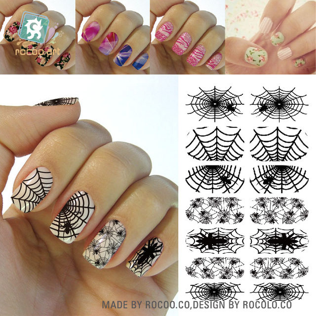 Rocooart K5674 Water Transfer Nails Art Stickers Creative Design