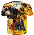 2015 summer men/womens Dragon Ball Z Goku vs  Darth VaderAnakin Star Wars  t-shirts 3D graphic print  funny  t shirt tee shirts