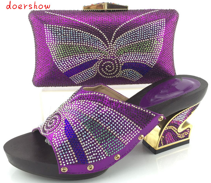doershow 2016 High quality Nigeria purple color wedding shoes,Italian shoes and bags set to match free shipping  HJY1-11 privatization and firms performance in nigeria