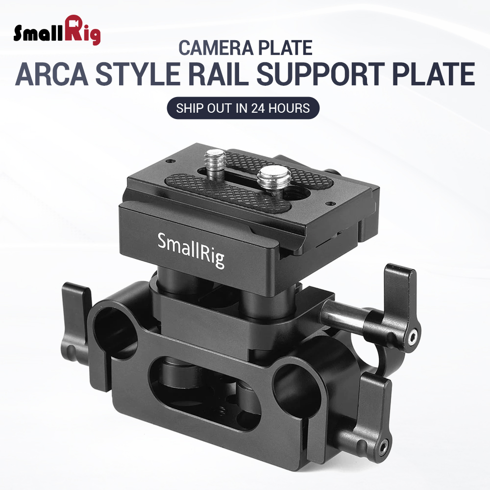 SmallRig DSLR Camera Plate Clamp Bracket Universal 15mm Rail Support System With Quick Release Arca Plate High Adjustable 2272-in Tripod Monopods from Consumer Electronics