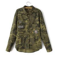 Long Jacket Women Military Camouflage Blouse Coat Casual Fashion Jaqueta Feminina Chaquetas