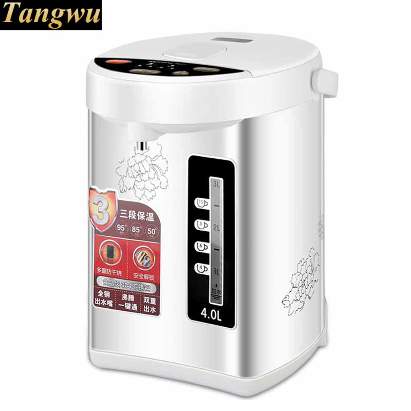 Electric water bottle 4L electric kettle 4 segment insulation food grade 304 stainless steel 1kg food grade l threonine 99