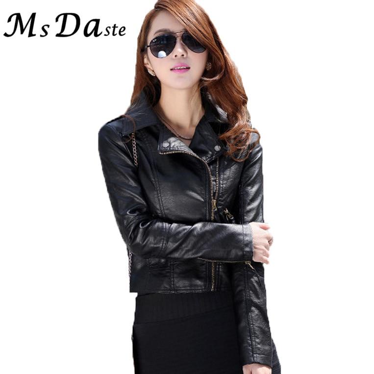 2017 PU Leather Jackets Coats Vintage Women Blasers Long Sleeve Short Jackets Chaquetas  ...