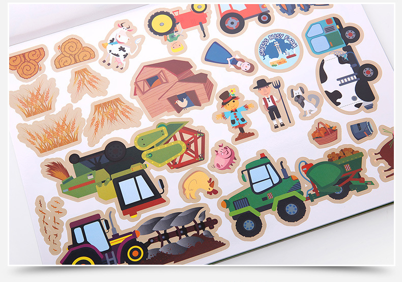 Easy-to-See 3-D Reusable Sticker Pad - Adventure (Age 3 Years+)