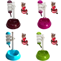 Large Adjustable Automatic Pet Drinking Fountains Water Feeder Bowl Pet Food Feeder Auto Dog Food Feeder