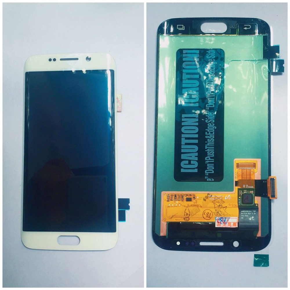 For Samsung Galaxy S6 Edge LCD G925 G925F SM G925F Display Touch Screen Digitizer Assembly with frame For SAMSUNG S6 Edge LCD