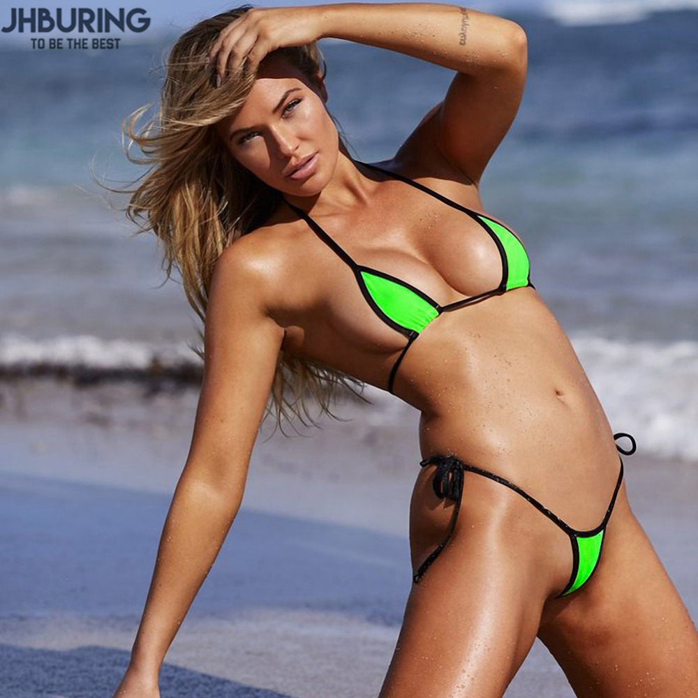JHBuring Bikini sexy swimwear women bathing suit Micro Bikini Thong Underwear G-String Bra Swimwear biquinis feminino 2018 sexy mens underwear hot tanga hombre men s thong solid jockstrap gay mens g string underwear sous vetement homme sexy hot