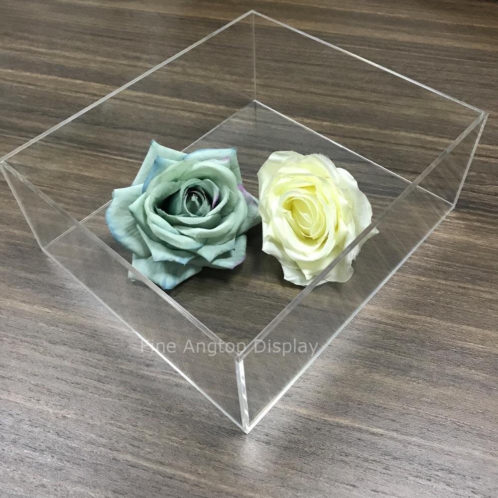 Transparent acrylique présentoir pour affichage bijoux Bracelet anneau emballage étuis de transport boîtes-cadeaux porte-plateau