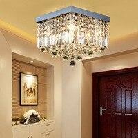 Kristall LED Decke Licht Leuchten Fashion Square Plsfonnier Decke Lampen Für Wohnzimmer Glanz Schlafzimmer Lamparas De Techo-in Deckenleuchten aus Licht & Beleuchtung bei