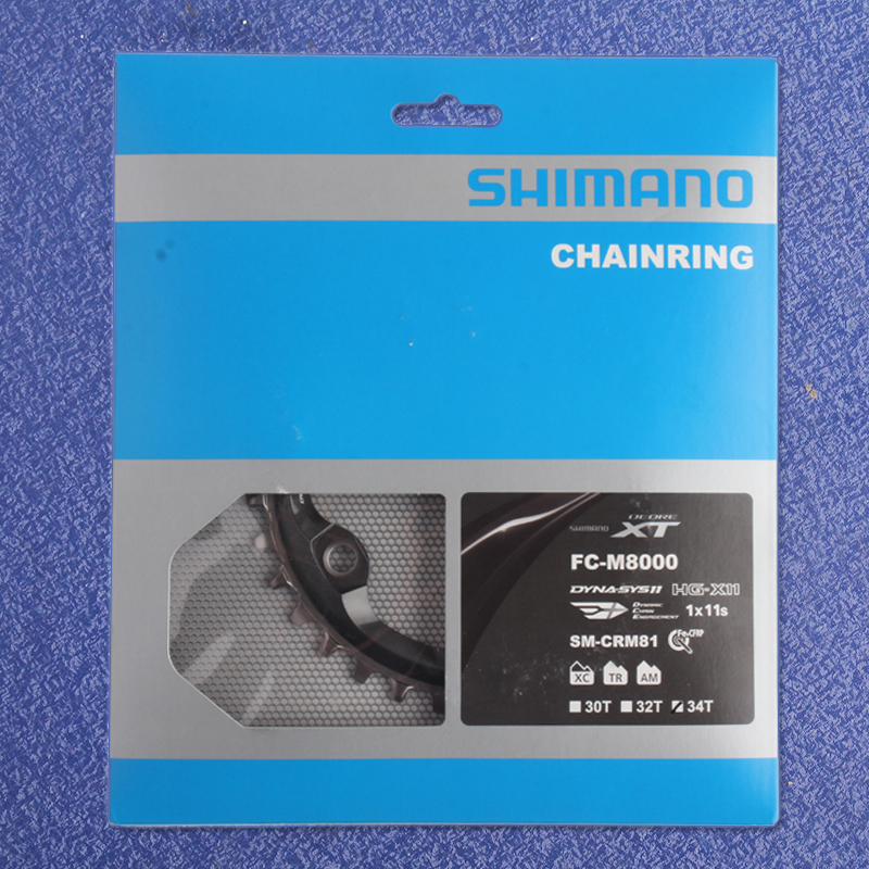 Shimano XT M8000 SM CRM81 DYNA SYS11 Wide & Narrow 32T 34T Chainring for 1x Driver System MTB Bicycle Chain Wheel boss bb 1x bass driver