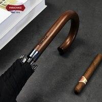 Parachase Long Handle Umbrella Men Women Windproof 8 Ribs Black Big Umbrella Automatic Open Clear Umbrella Rain Guarda Chuva