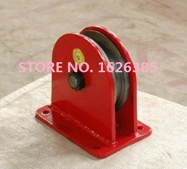 0.5T 80MM Land wheel fixed pulley roller steel wire rope lifting ...