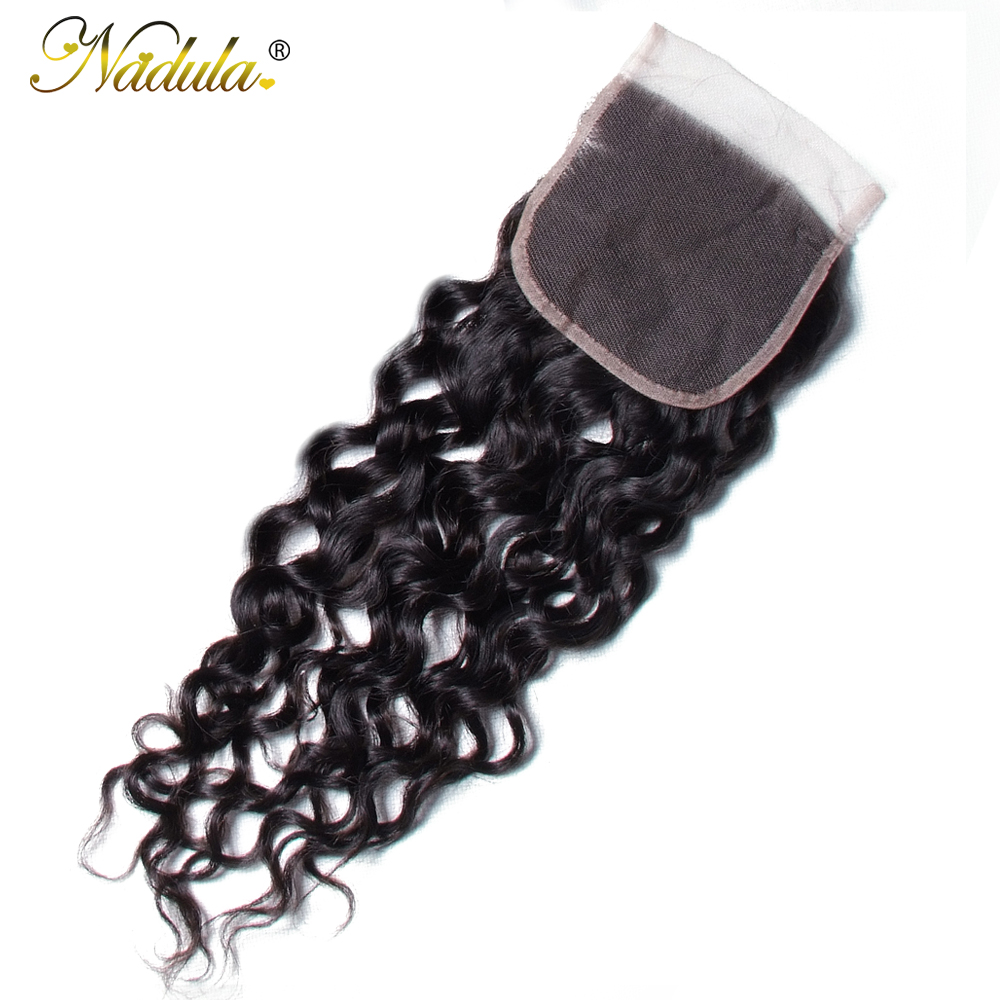 Nadula Hair  Water Wave Closure 8-10inch  Closure 4*4 Swiss Lace Closure Natural Color 5