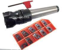 MT4 FMB22 arbor +BAP400R63-22-4T Face Mill and 10pcs APMT1604  inserts CNC milling