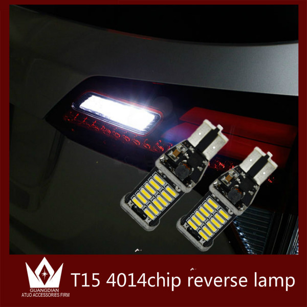 Guang Dian 1bulb LED Car Signal Light Brake lamp Parking Light Stop Tail light high power T15 W16W 921 912 LED CANBUS 4014 guang dian car interior lamp roof bulb