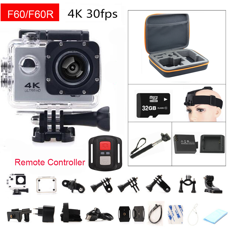 gopro hero 4 style F60 F60R Wifi Action font b Camera b font 4K Remote Controller