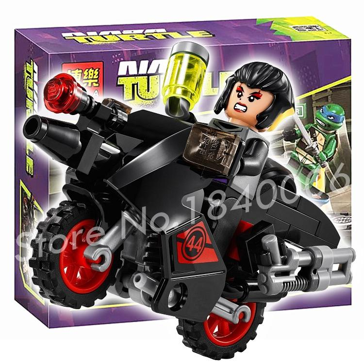 87pcs Bela 10261 Turtle Karai Bike Escape Building Set Motorcycle Building Bricks Kid Toys Compatible With Lego