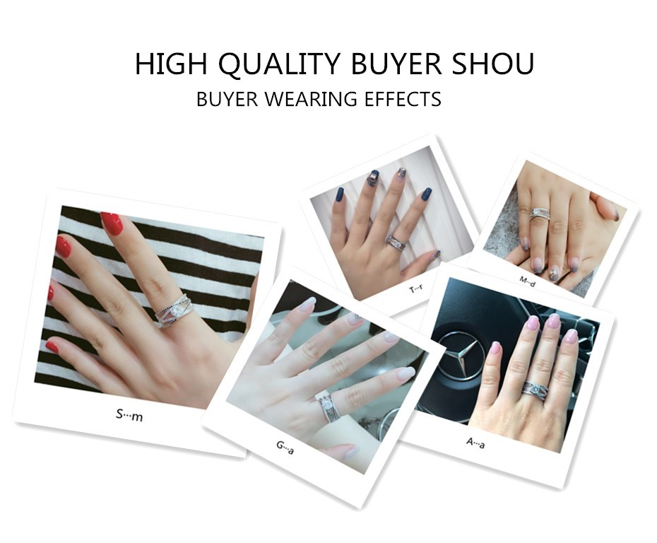 HTB1.jKuXffsK1RjSszbq6AqBXXaf [BLACK AWN] 925 Sterling Silver Rings for Women Hollow Engagement Ring Bijoux Bague Gift Sterling Silver Jewelry C012