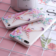 Animals Horse Bird Pattern Soft Silicone Phone Case Cover for iphone