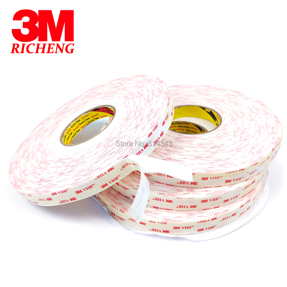 3M 4950 Double Sided VHB Acrylic Foam Tape self adhesive transparent holographic film 25MM*33M 5Roll/Lot 5sheets pack 10cm x 5cm holographic adhesive film fly tying laser rainbow materials sticker film flash tape for fly lure fishing