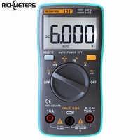Multímetro Digital RICHMETERS RM101 6000 recuentos de retroiluminación AC/DC amperímetro voltímetro Ohm medidor portátil de voltaje