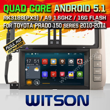 WITSON Android 5.1 CAR DVD GPS bluetooth radio for TOYOTA PRADO 150 HD 1024X600 Screen Android Quad-core car dvd player