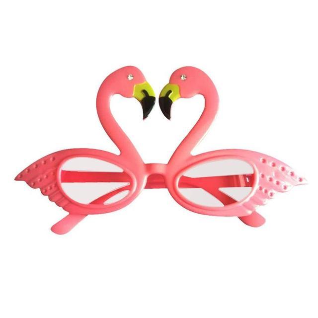 Havaí Padrão Animal Dos Desenhos Animados Óculos Bola Óculos de Plástico para Bar Festa Festival Decoração Havaiana Vidros Engraçados Suprimentos