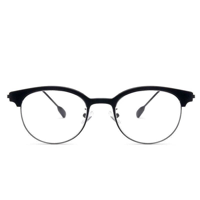 bebed6d20e Vazrobe Vintage Eyeglasses Frame Men Women Retro Round Oval EyeGlasse for  Female Small Face Half Rim Optical Lens Nerd Eyewear-in Eyewear Frames from  ...