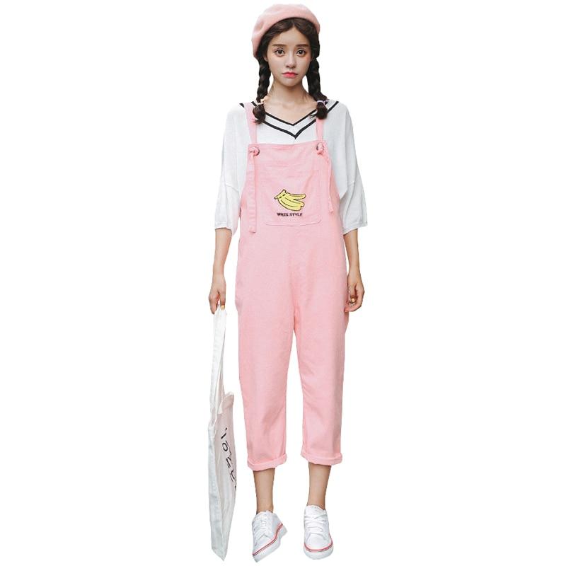 2017 New Women Spring Jeans Embroidery Overalls Jeans Pants Plus Size Slim Cotton Pink Harajuku Denim Jeans P020 белая рубашка с объемными рукавами и вырезом
