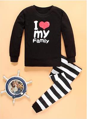 2018 Cartoon Kids   Pajama     Set   Children Warm Cotton Pyjamas Leggings Pants 2pcs Baby Girl Boys Pyjamas Clothing Suit 2-7T