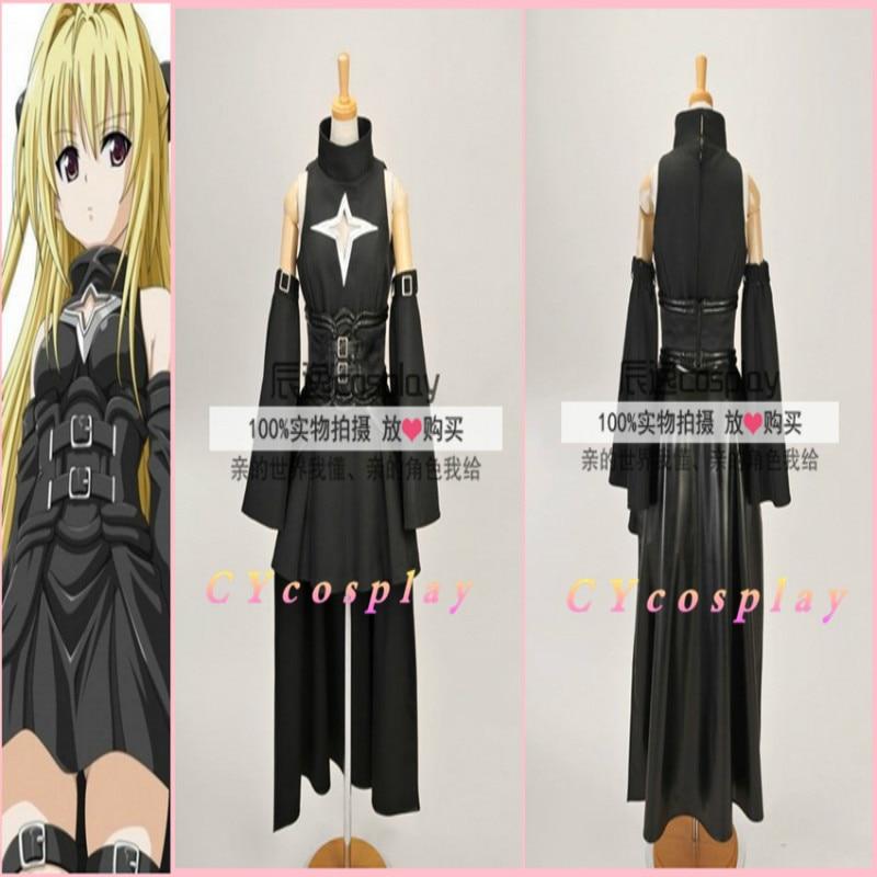 Anime To Love Darkness Yami Cosplay Costume Full set(Top+Waistband+Skirt+Legwear+Armcovers)Custom made