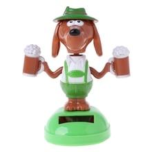 HBB, 1 шт., детские игрушки новинка, на солнечных батареях, танцующая голова с помпоном, пиво, мультяшная собака, автомобиль, украшение, подарки для взрослых, детские игрушки