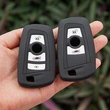 50 개/몫 실리콘 키 케이스 쉘 피부 BMW F10 F20 F30 Z4 X1 X3 X4 M1 M2 M3 E90 1 2 3 5 7 시리즈 원격 열쇠가없는