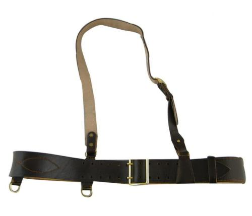 SOVIET RUSSIAN RED ARMY OFFICER BROWN LEATHER BELT WITH SHOULDER STRAP World military Store