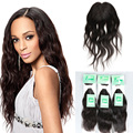 8A Brazilian Virgin Hair With Closure Natural Wave, Brazilian Hair Weave Bundles With Closure, Hair Bundles with Lace Closures