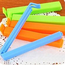 Пластиковая посылка с зажимом для кухни, упаковщик для закусок, чипсов для хранения, посылка s, уплотнительная сумка с зажимом, упаковочная сумка с зажимом, розовый и зеленый цвета