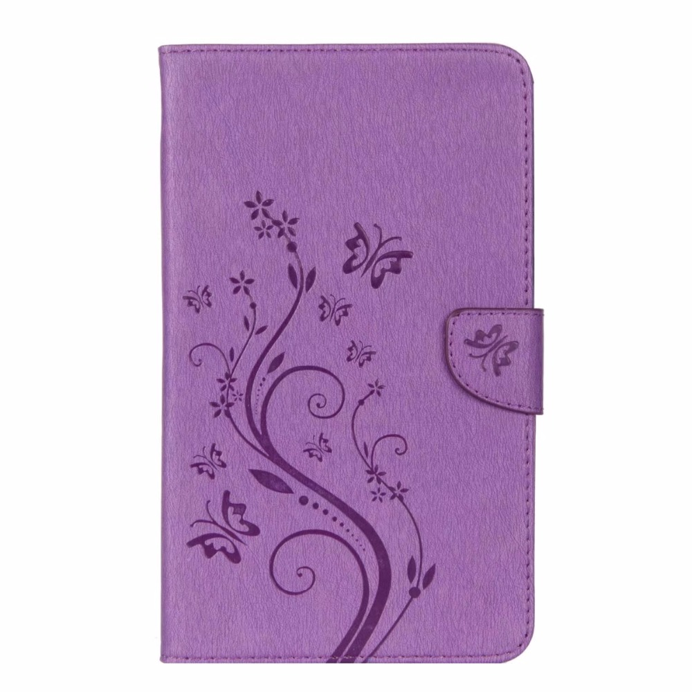 Case Cover For Samsung Galaxy Tab A 8.0 2017 T380 T385 Fashion Flower Print PU Leather Stand Holder With Card Slot