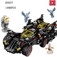 Legoed Technic movie super man Batman The Ultimate Batmobile car Super Hero Model Legoing Building Block Toy Boy Christmas Gift
