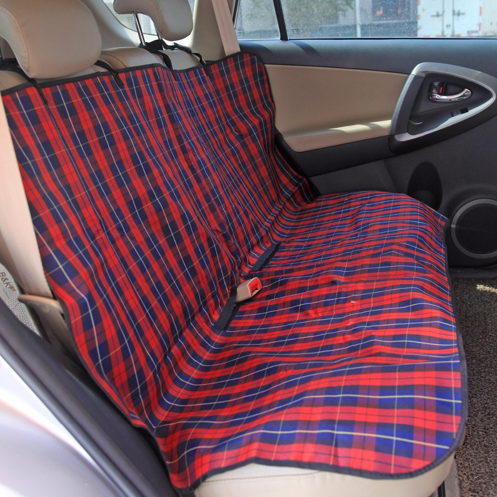 buy pet supplies classic plaid dog carriers car seat cover durable puppy cats. Black Bedroom Furniture Sets. Home Design Ideas