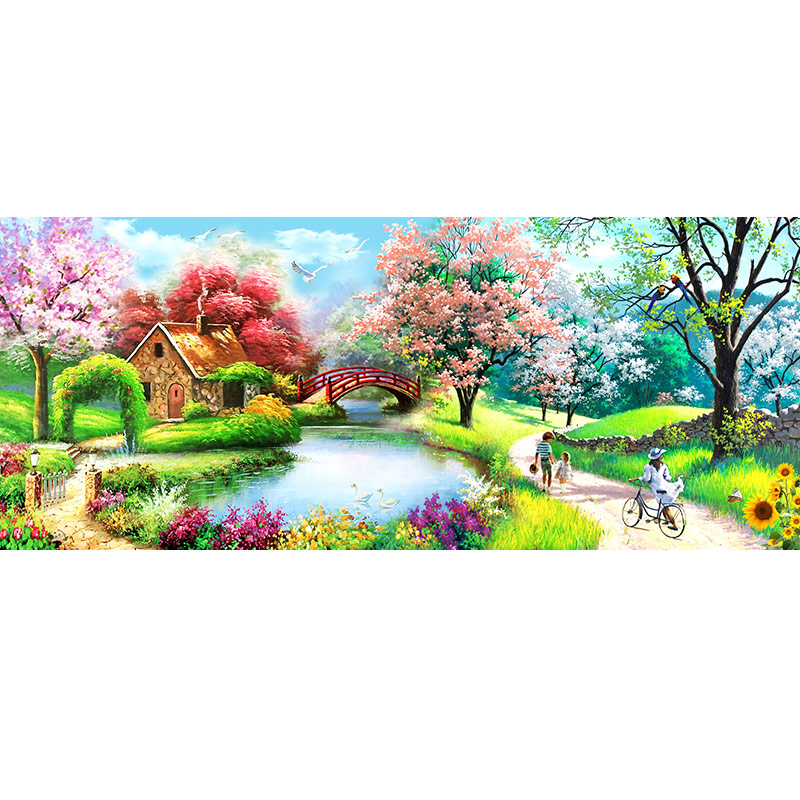 Special Shaped Diamond Embroidery landscape lake home Rhinestone 5D DIY Diamond Painting Cross Stitch Diamond Mosaic