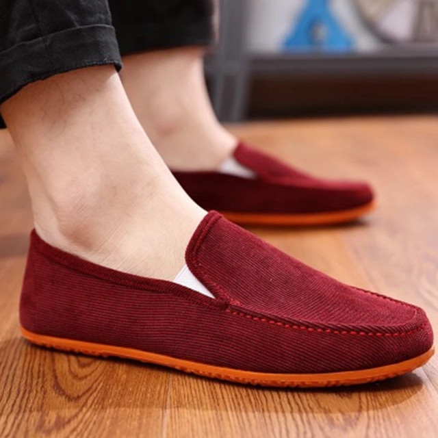 Men Flats Shoes Comfortable Light Weight Slip-on Loafers